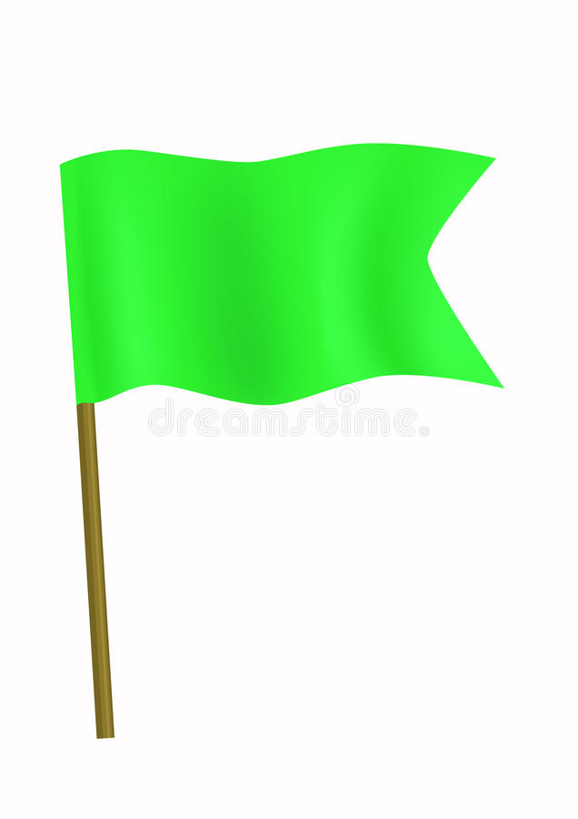 Green small flag royalty free stock photography