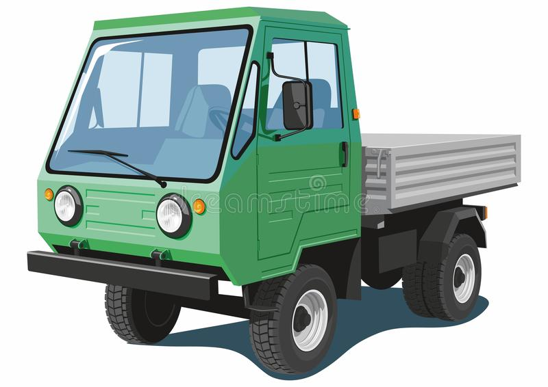 Green small truck royalty free stock photo