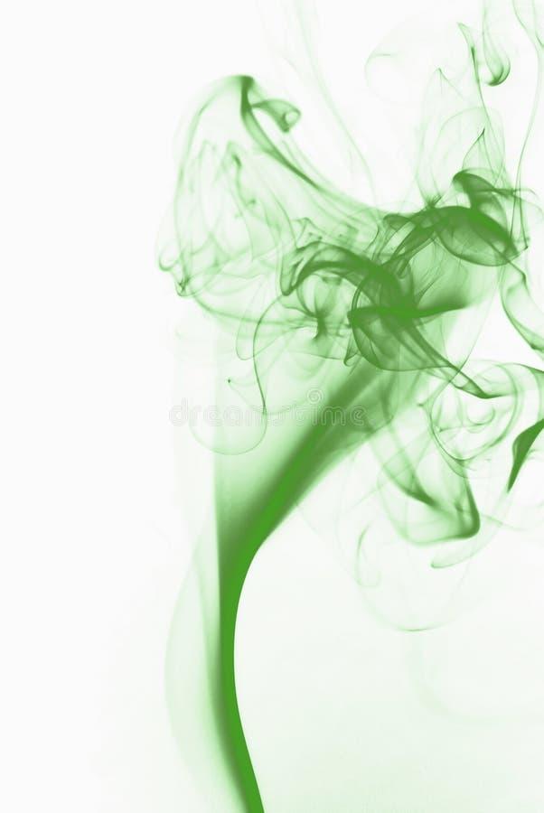 Green smoke royalty free stock images