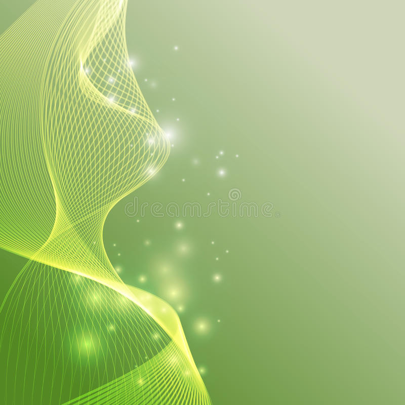 Green smoke abstract background stock image