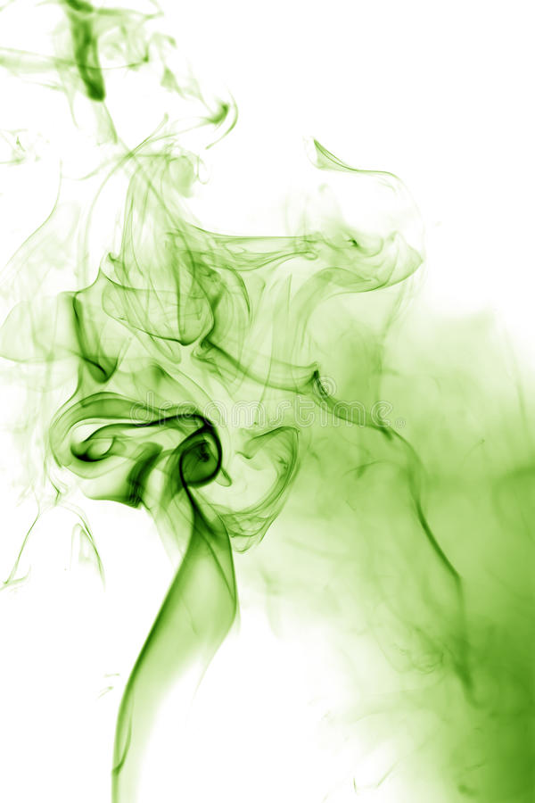 Green smoke. Movement royalty free illustration