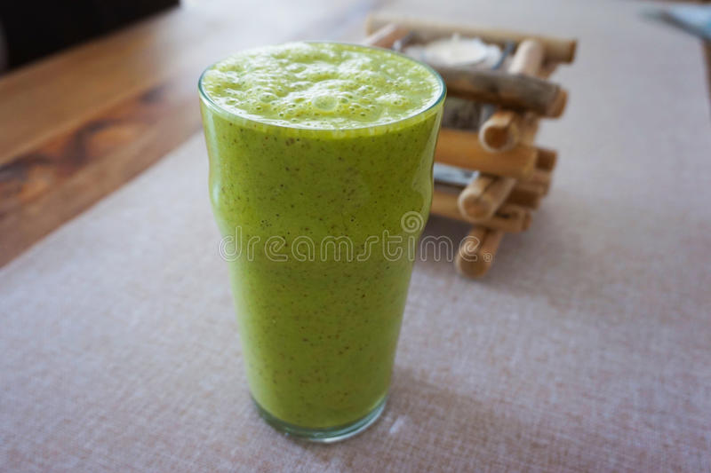 green smoothie stock image
