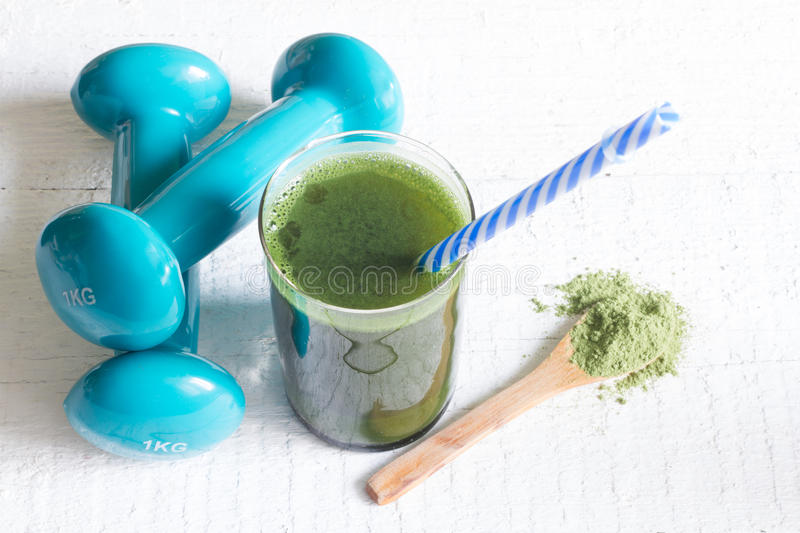 Green smoothie detox and fitness gym health care stock photos