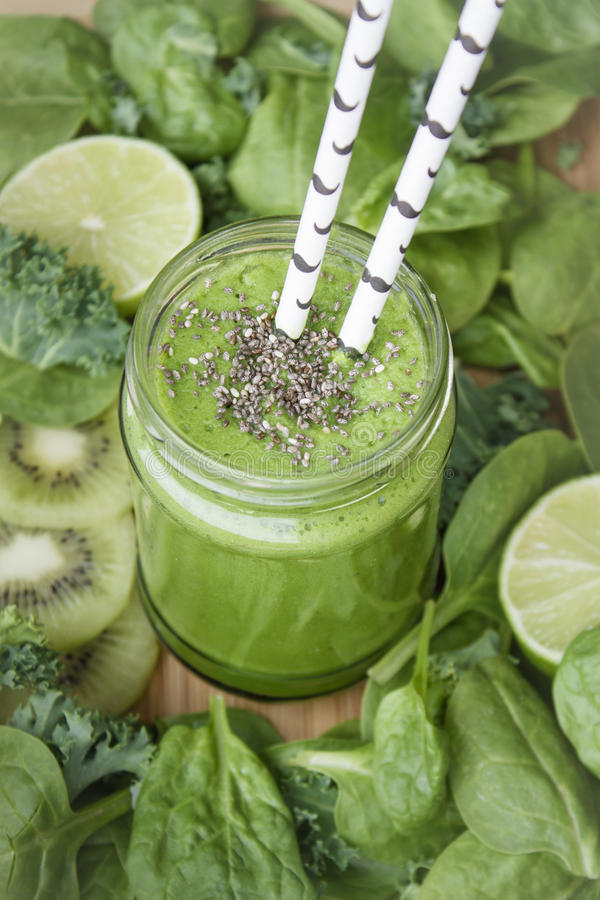 Green smoothie. royalty free stock image