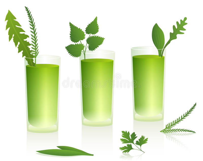 Download Green Smoothies stock image. Image of leaves, beverage - 40197673