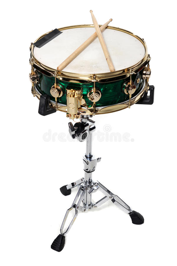 Free Green Snare And Drum Sticks Royalty Free Stock Photo - 18120695