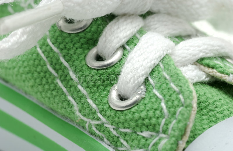 Green Sneaker. Photo of a Green Sneaker royalty free stock photo