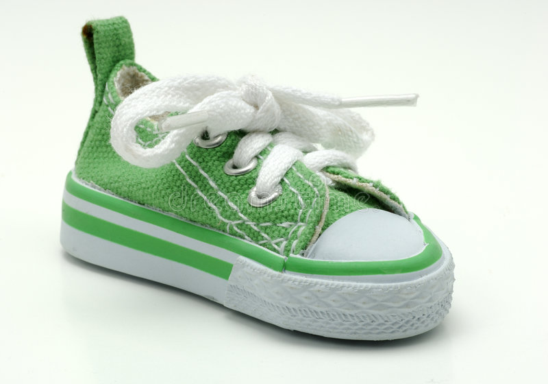 Download Green Sneaker stock photo. Image of lace, eyelet, shoelace - 515158