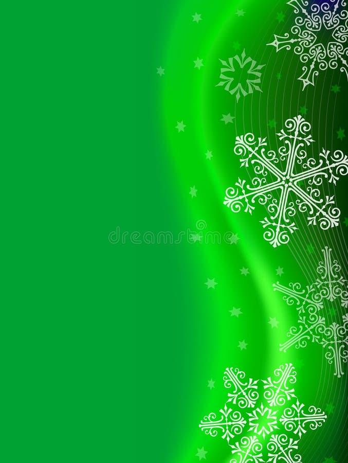 Green Snowflake Background royalty free stock photos