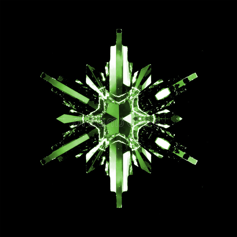 Free Green Snowflake Crystal Stock Photography - 7237242