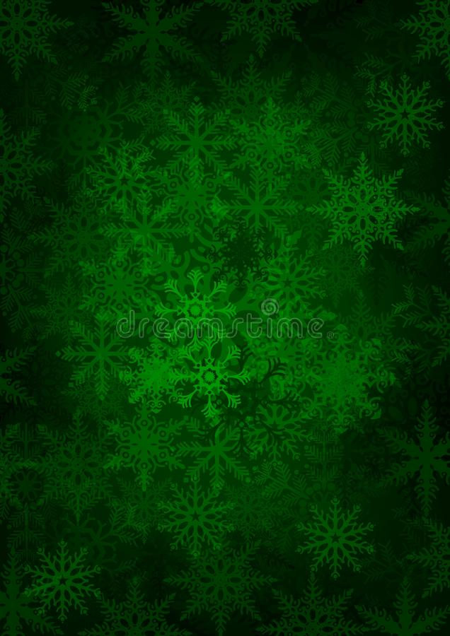 Download Green Snowflakes stock vector. Image of wallpaper, magic - 27099952