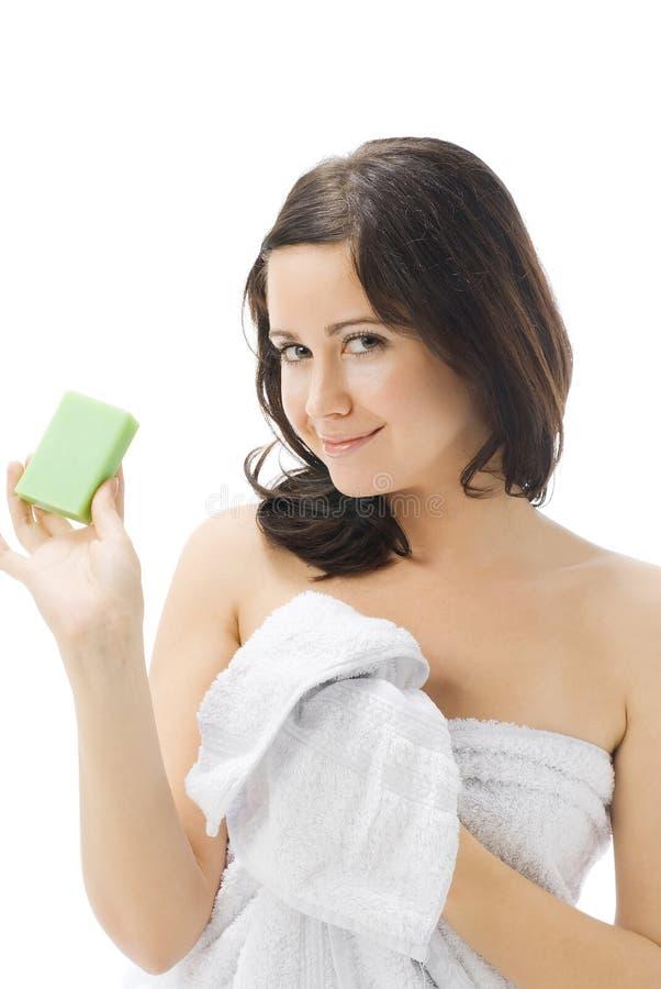 The green soap royalty free stock photos