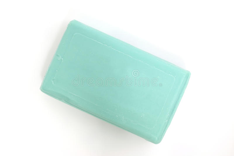 Green soap with white background royalty free stock images