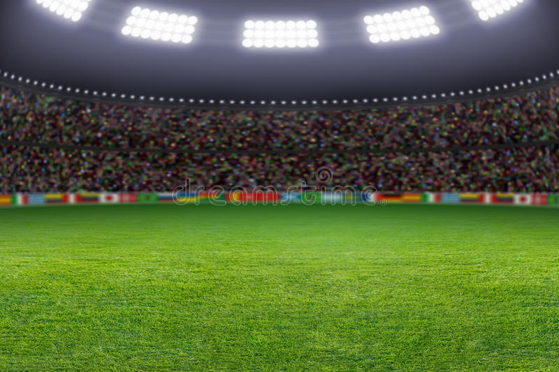 Download Soccer stadium stock image. Image of grass, competition - 30081637