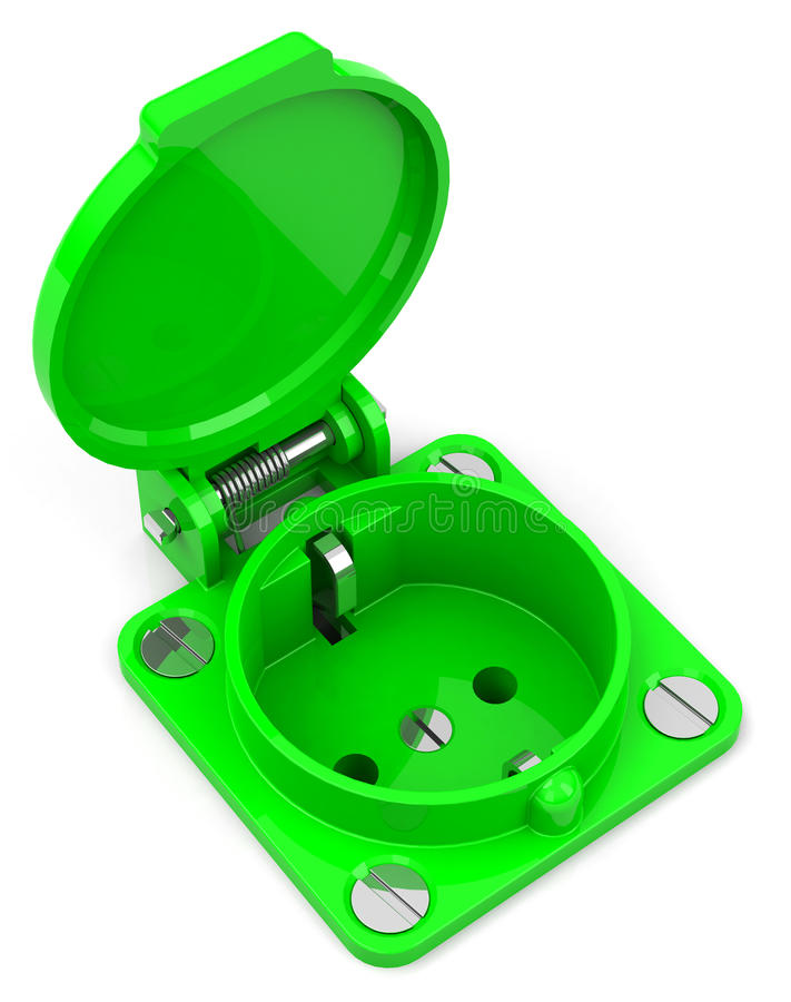 Download The green socket stock illustration. Image of environment - 39715249