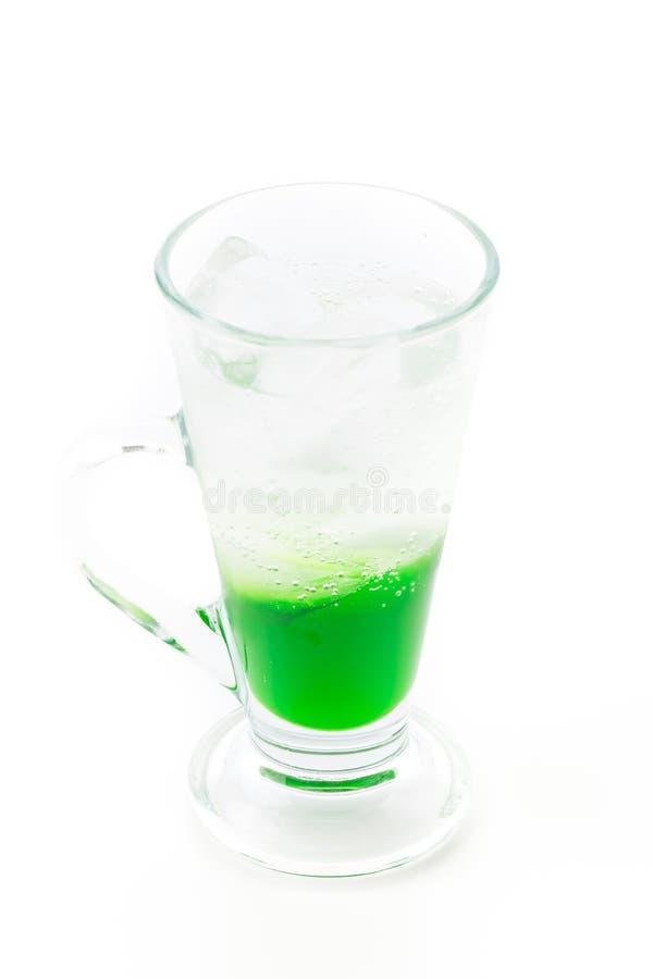 Green soda. On white background stock image