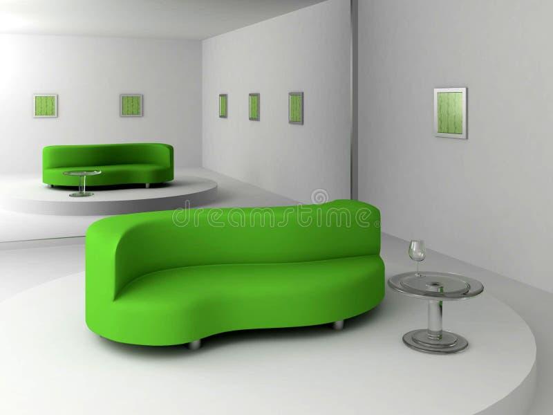 Green Sofa Stock Image