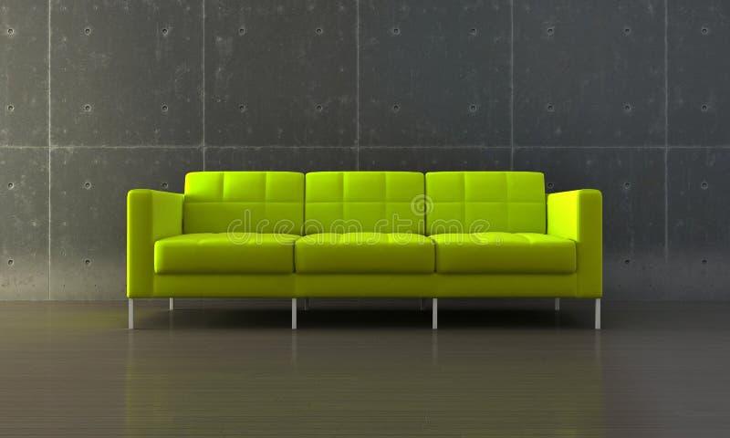 Download Green sofa stock illustration. Image of concrete, indoor - 16369361