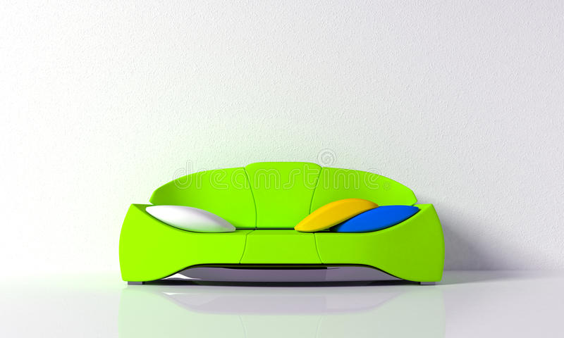 Green Sofa Royalty Free Stock Photo