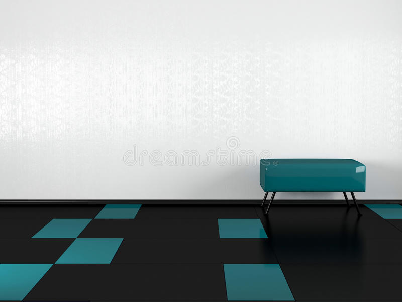 Download Green Sofa In The Empty White Room Stock Illustration - Image: 14850633