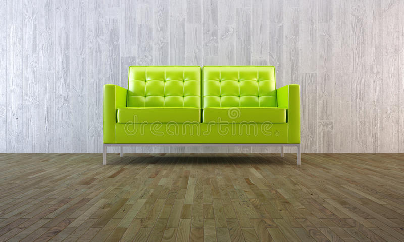 Download Green Sofa In Minimal Style Stock Illustration - Image: 18268821