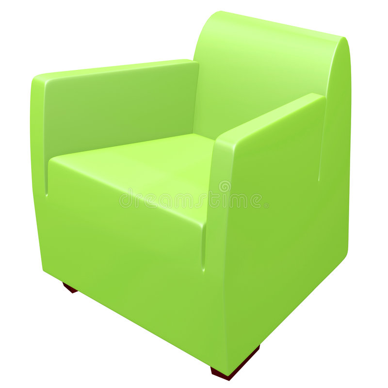 Green sofas stock illustration