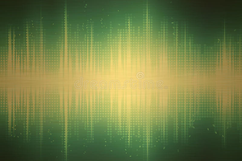 Green Sound Waves royalty free illustration