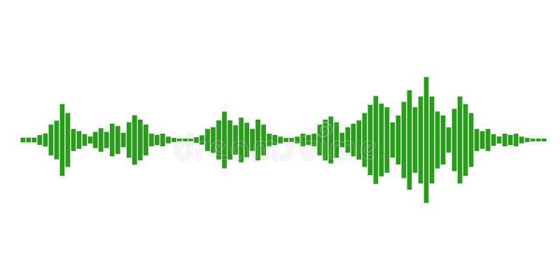 Green sound waves vector illustration