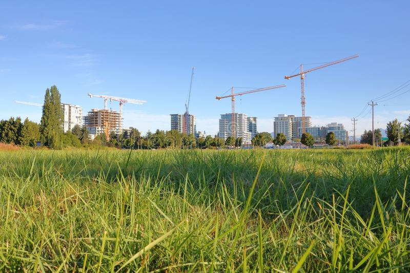 Green Space and High Density Development stock photos