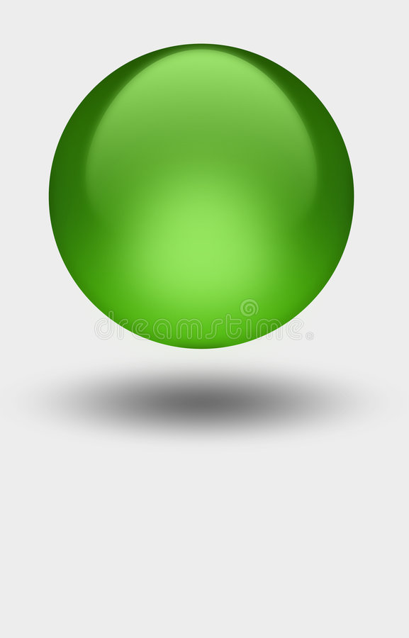 Green Sphere royalty free stock photo