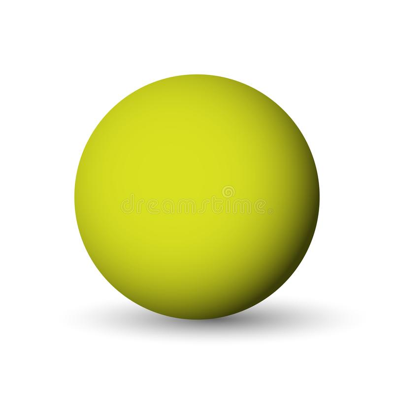 Green sphere, ball or orb. 3D vector object with dropped shadow on white background stock illustration