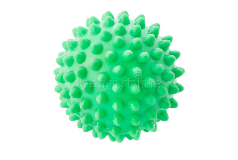 Download The Green Sphere With Spikes. Stock Photo - Image: 25431348