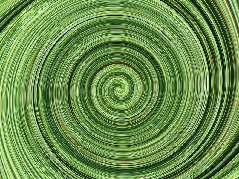 Green spiral background royalty free stock photo