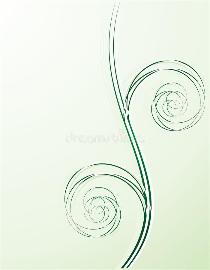 Green spiral background