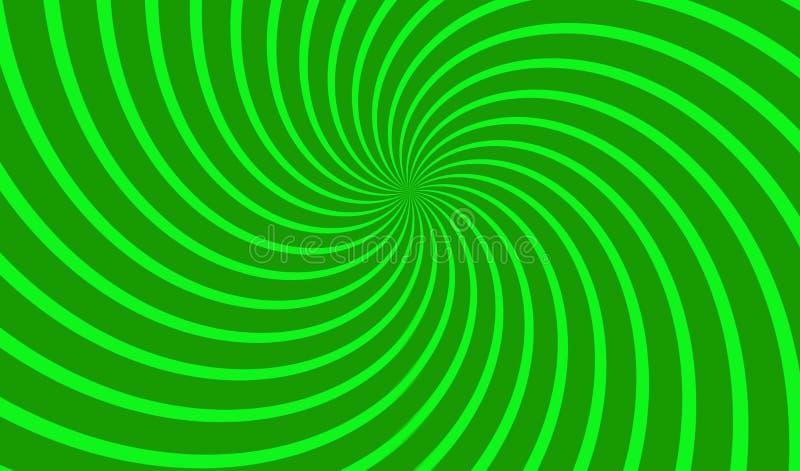 Green spiral pattern background . illustration design royalty free stock photos
