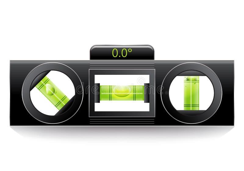 Green spirit level. On white stock illustration