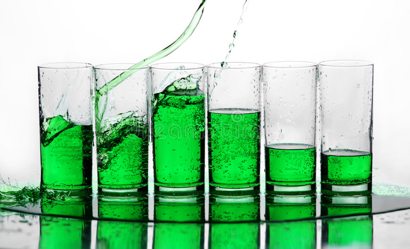 Green splash. Green water splash on white background. Drop of water. Water splash. Drop of liquid. Liquid splash stock photography