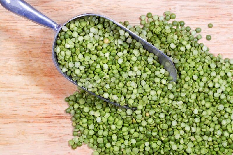 Green Split Peas in Scoop stock image