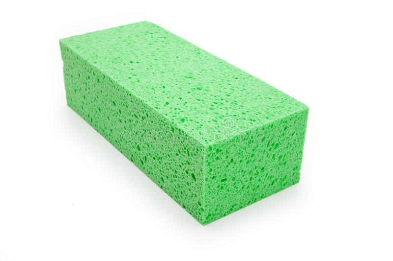 Download Green Sponge stock photo. Image of hygiene, isolated - 14858882