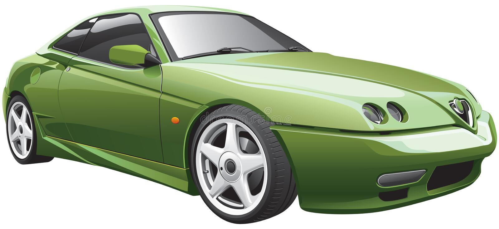 Download Green Sport Car Royalty Free Stock Photos - Image: 29438988