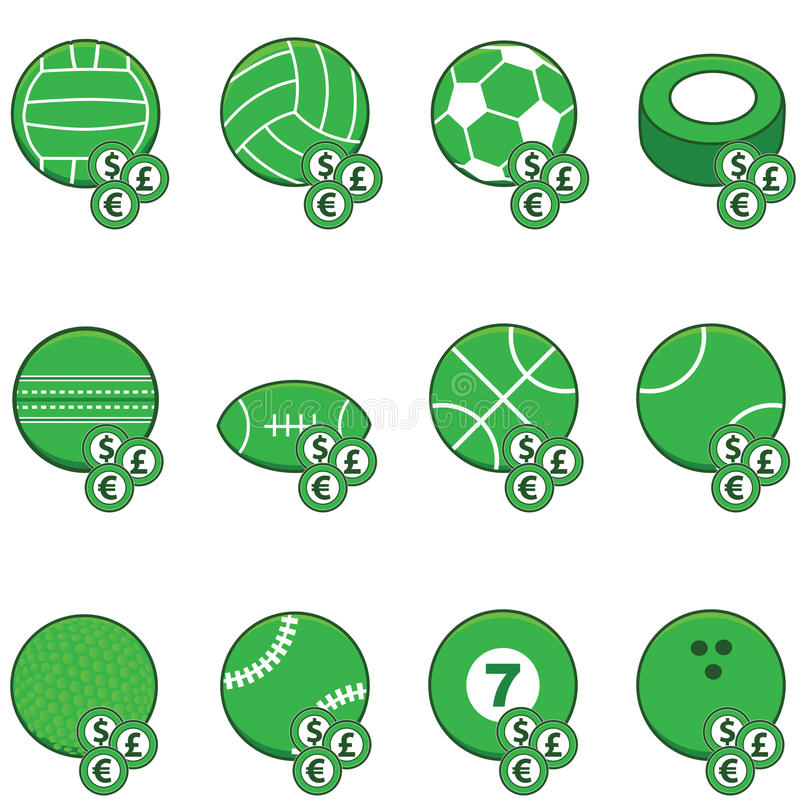 Download Green sports betting icons stock vector. Illustration of euro - 27519337