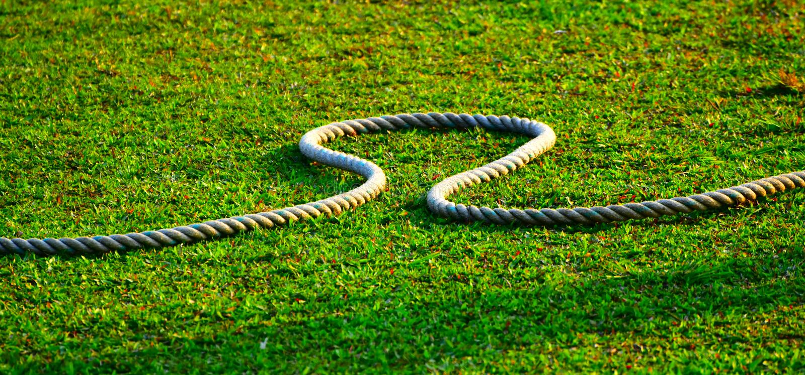 Sports Cricket Ground with Boundary Rope Royalty Free Stock Photograph. Green sports ground with cricket boundary rope outdoor natural stock stock photography