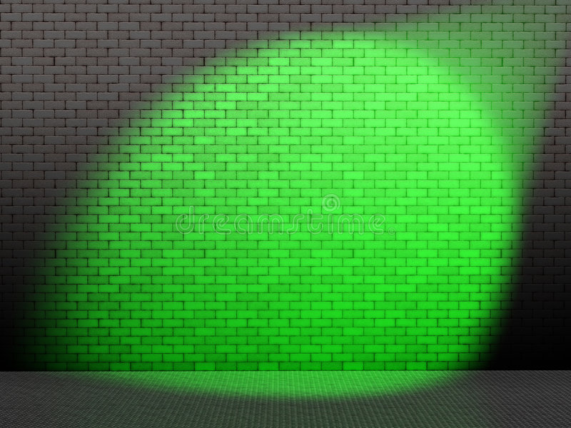 Green spot on wall royalty free illustration