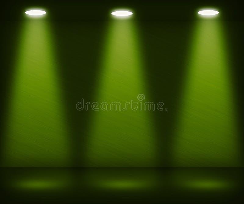 Green Spotlight Room stock illustration