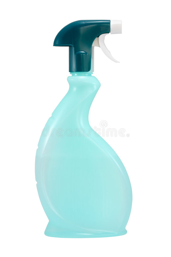 Download Green spray bottle stock photo. Image of profile, clean - 9255384