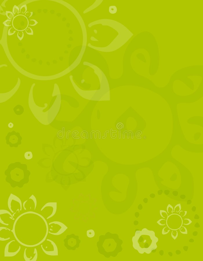 Green Spring Artsy Flower Background vector illustration