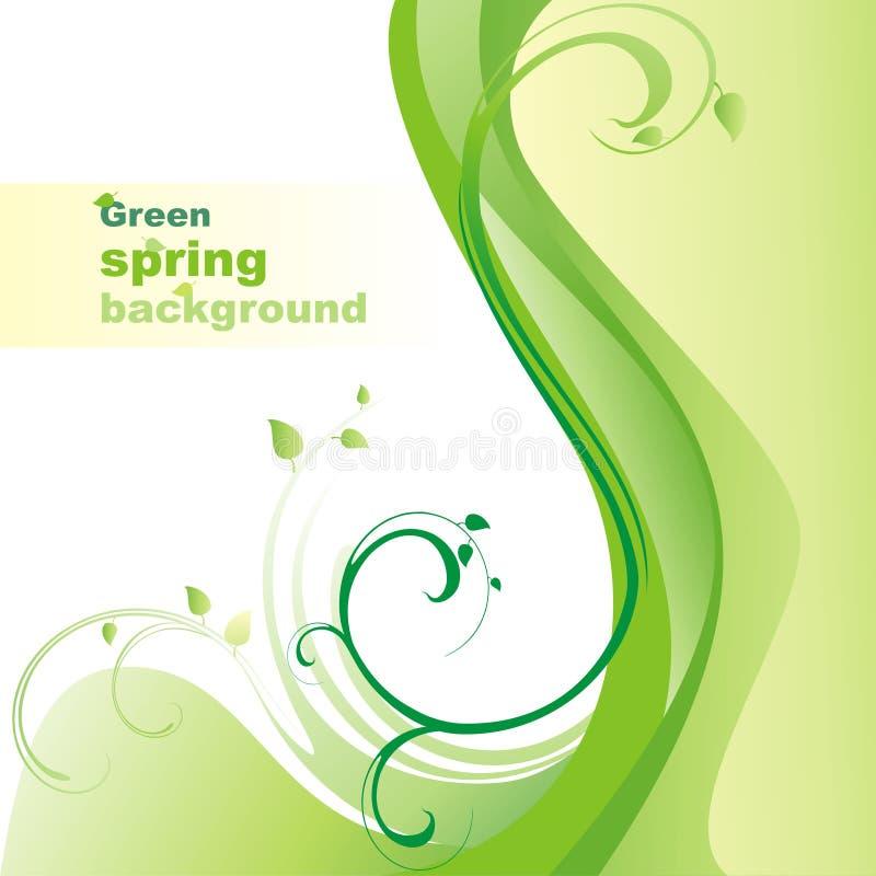 Green spring background. royalty free illustration