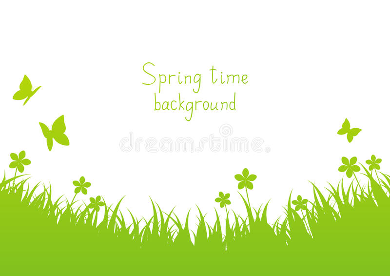 Green spring background vector illustration