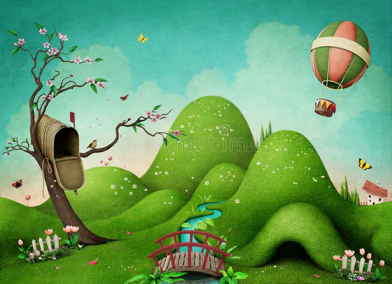 Green spring background royalty free illustration