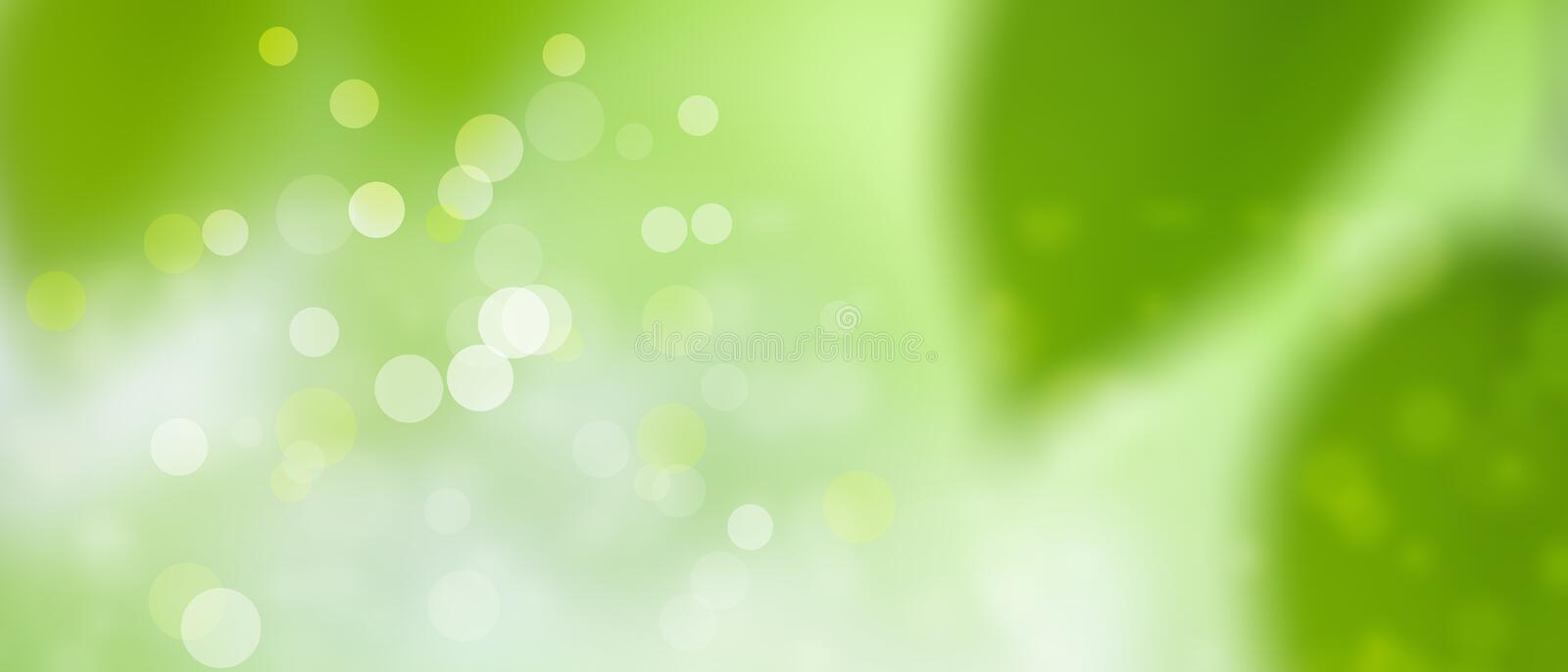 Green spring summer background - sunny and fun - Bokeh texture pt3 royalty free stock images